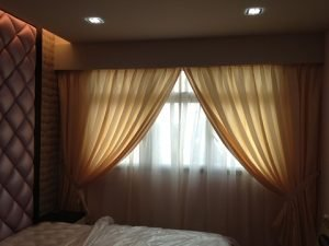 Full height night curtain dry Cleaning service Singapore