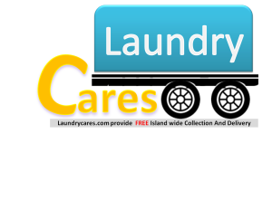 Laundry cares logo in Singapore