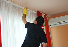 Curtain removal and Installation