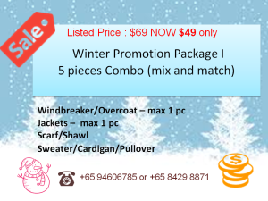 Winter clothes dry cleaning Promotion Singapore