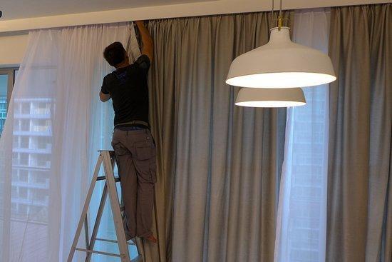 Drapery Installation Service : Curtain installation service singapore